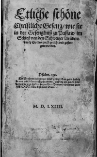 Ausbund first edition
